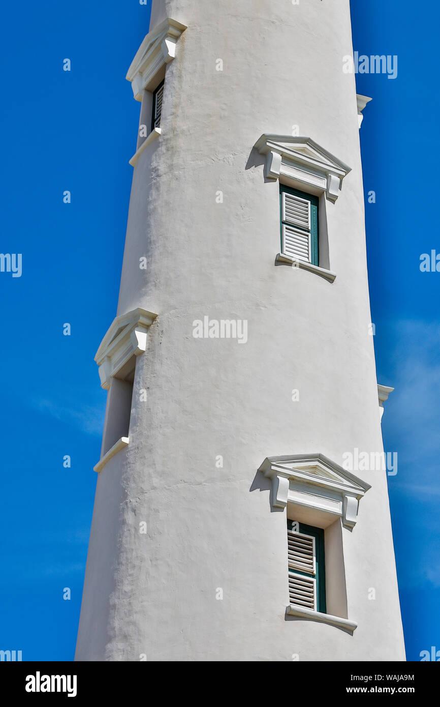 West Indies, Caraïbes, Aruba. Phare California détail Banque D'Images