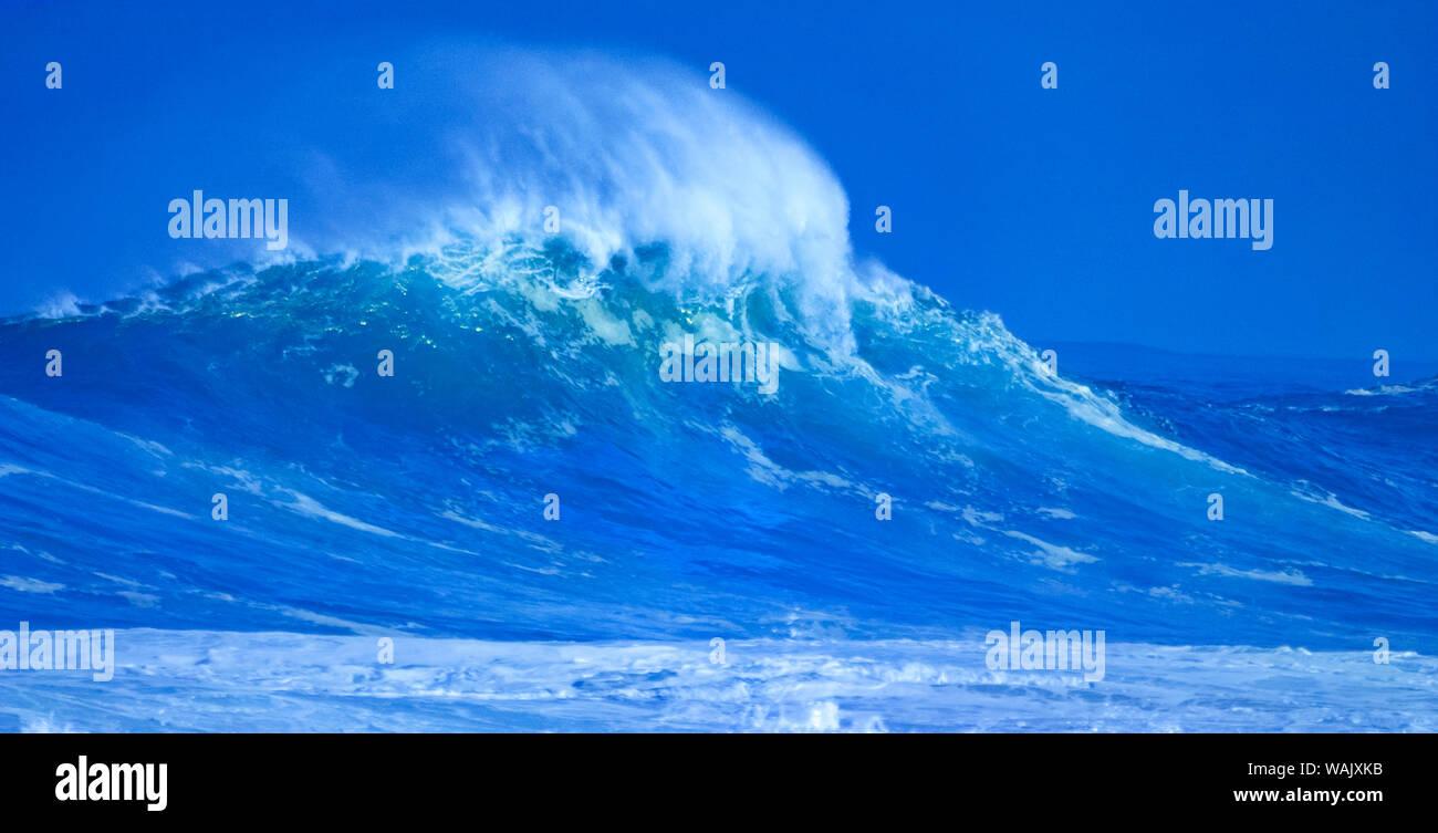 Les ondes de tempête, North Shore, Oahu, Hawaii Banque D'Images