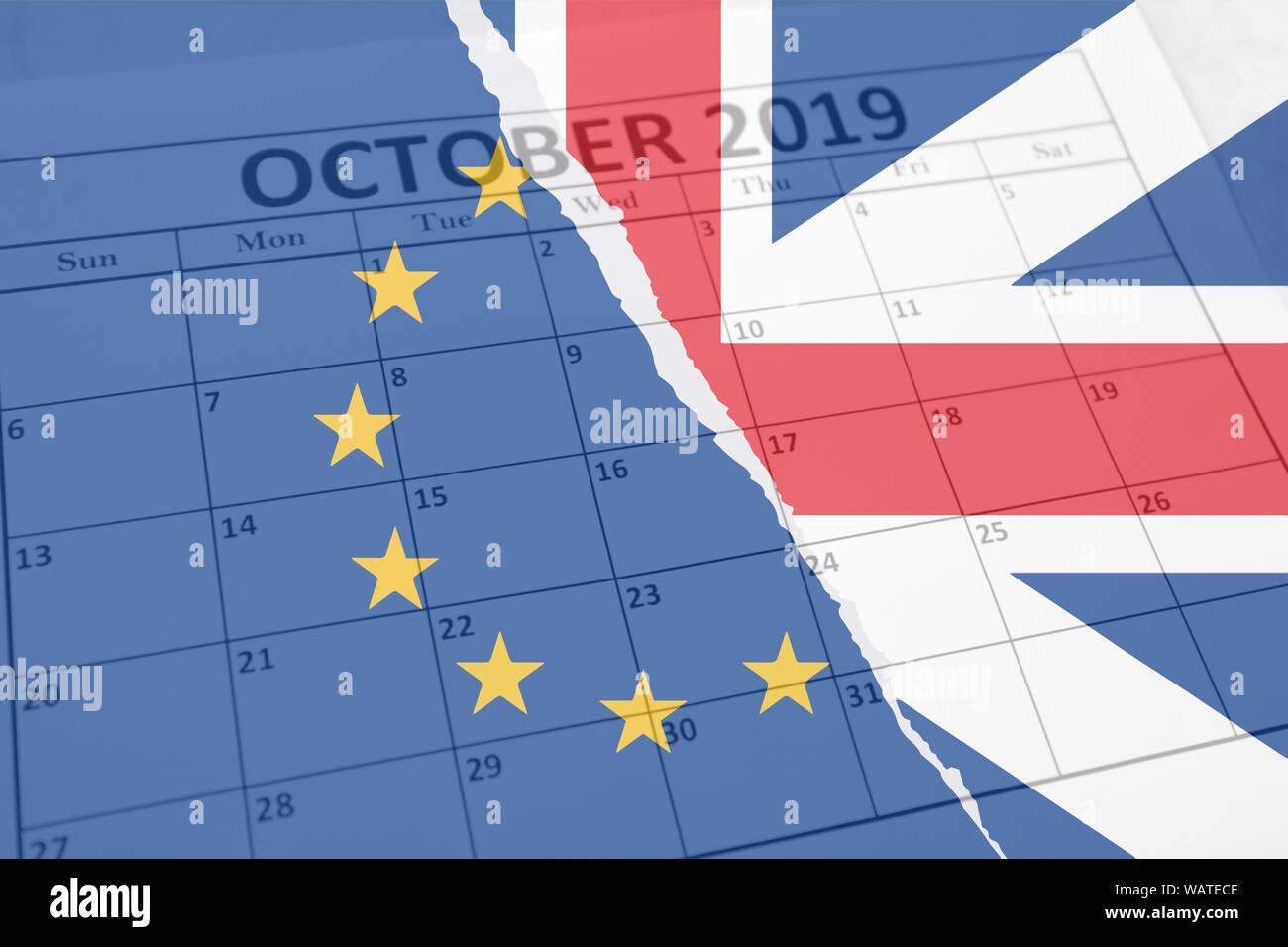 Calendrier Brexit.Concept Brexit Avec Fond British Union Jack Et De L Union