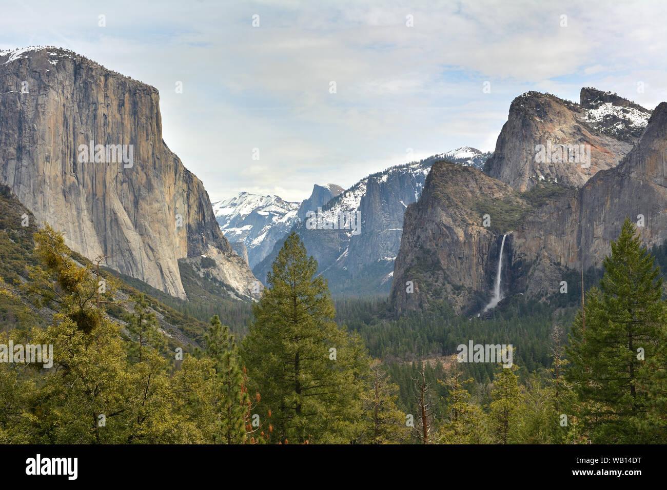 Bridalveil Fall - Yosemite National Park, California, United States Banque D'Images