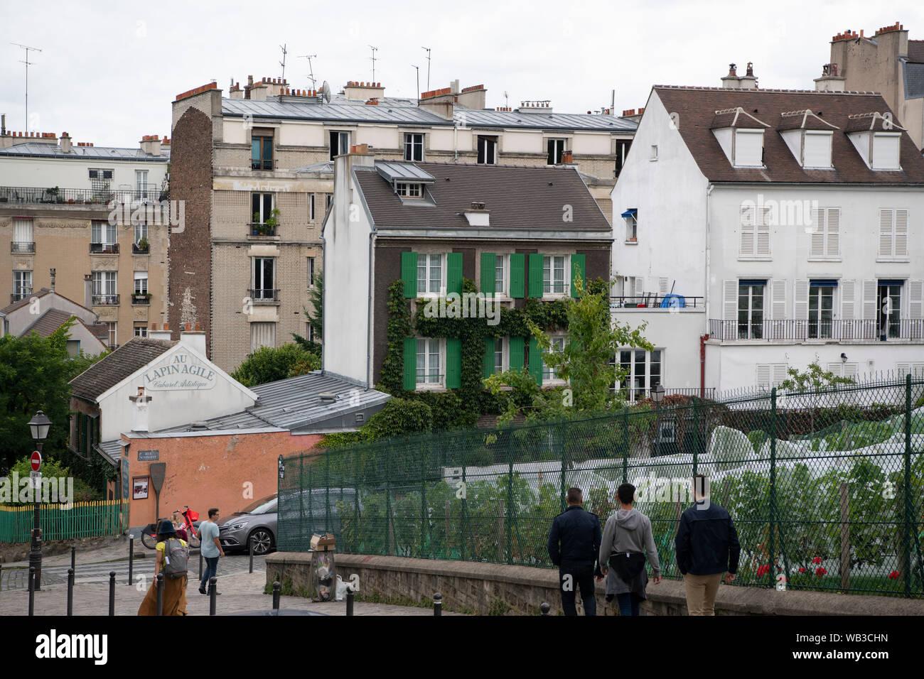 France, Paris, août, 16-2019, les touristes visitant Montmartre, Paris Banque D'Images