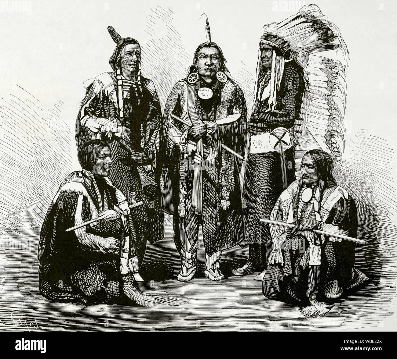 Gravure Des Indiens D Amérique Photos Gravure Des Indiens