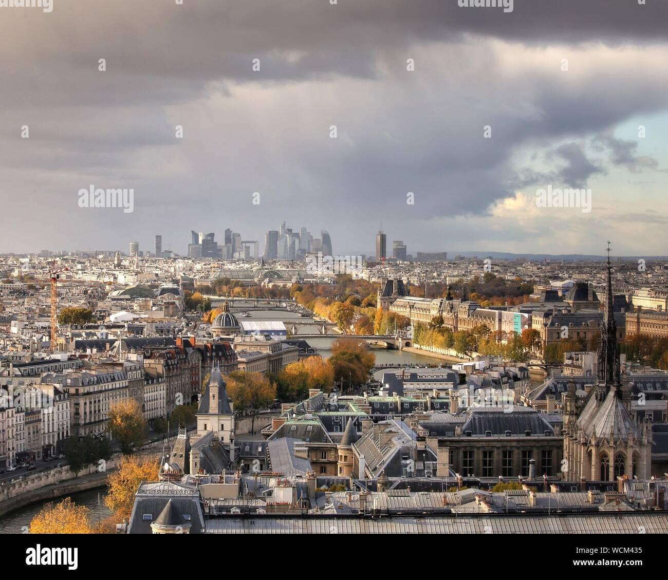 Cityscape Against Sky Banque D'Images