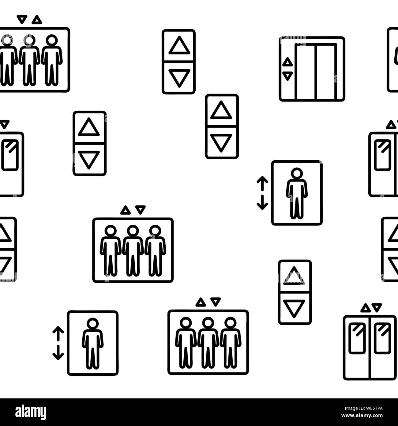 Ascenseur, ascenseur modèle transparent vecteur Illustration de Vecteur