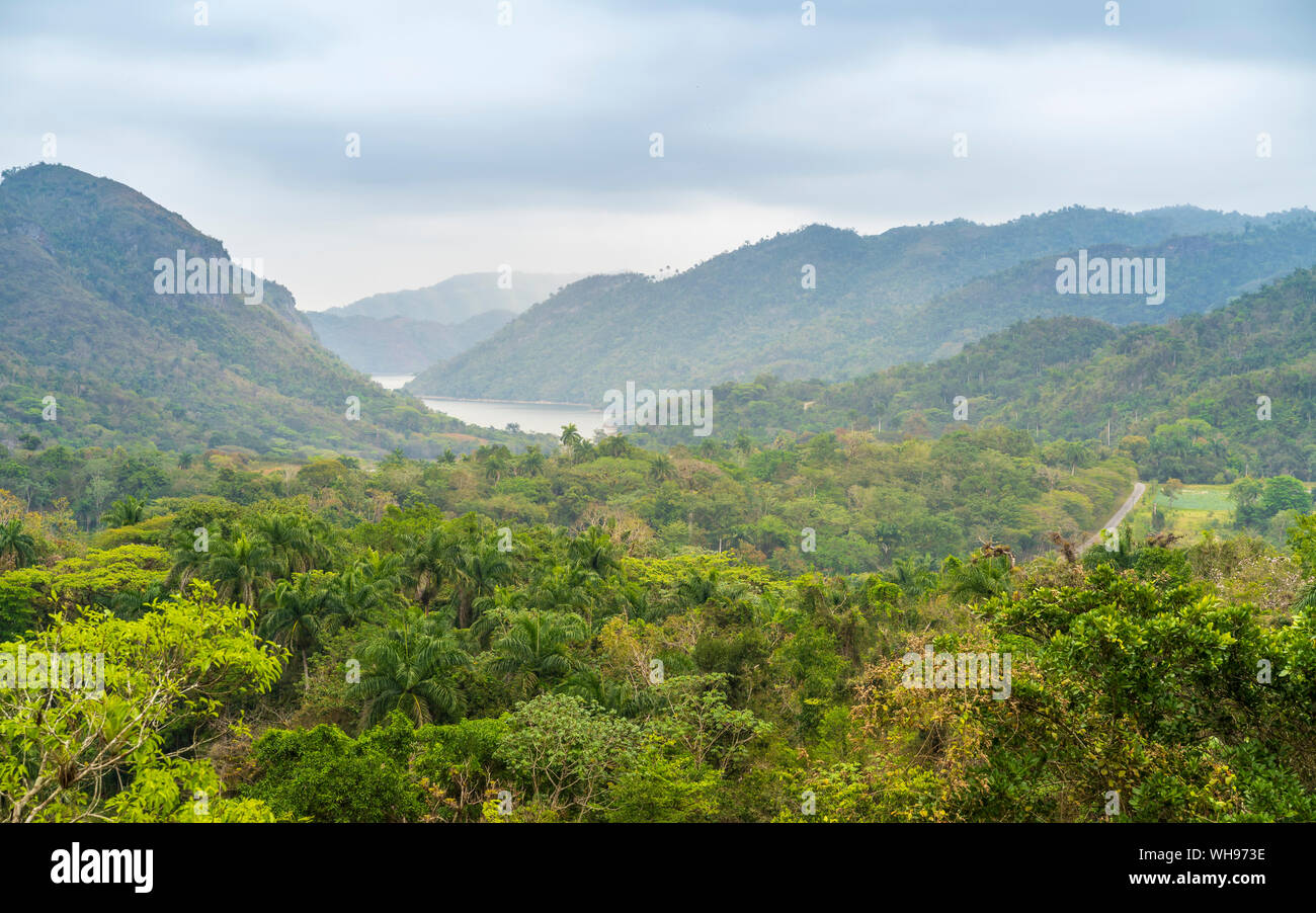 El Nicho vallée dans la sierra del Escambray mountains non loin de Cienfuegos, Cuba, Antilles, Caraïbes, Amérique Centrale Banque D'Images