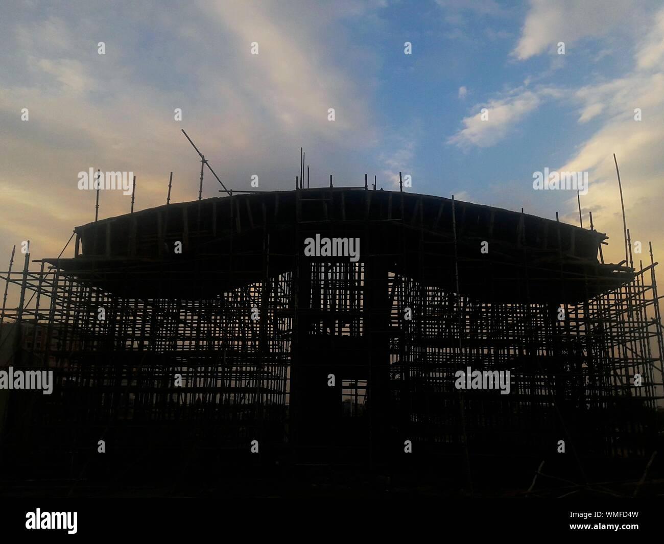 Silhouette de structure intégrée Banque D'Images