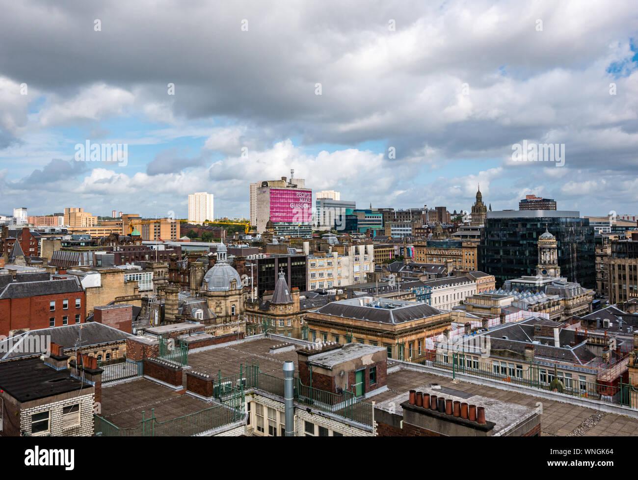 Vue sur la ville de la tour Phare, dont Goma, Glasgow, Écosse, Royaume-Uni Banque D'Images