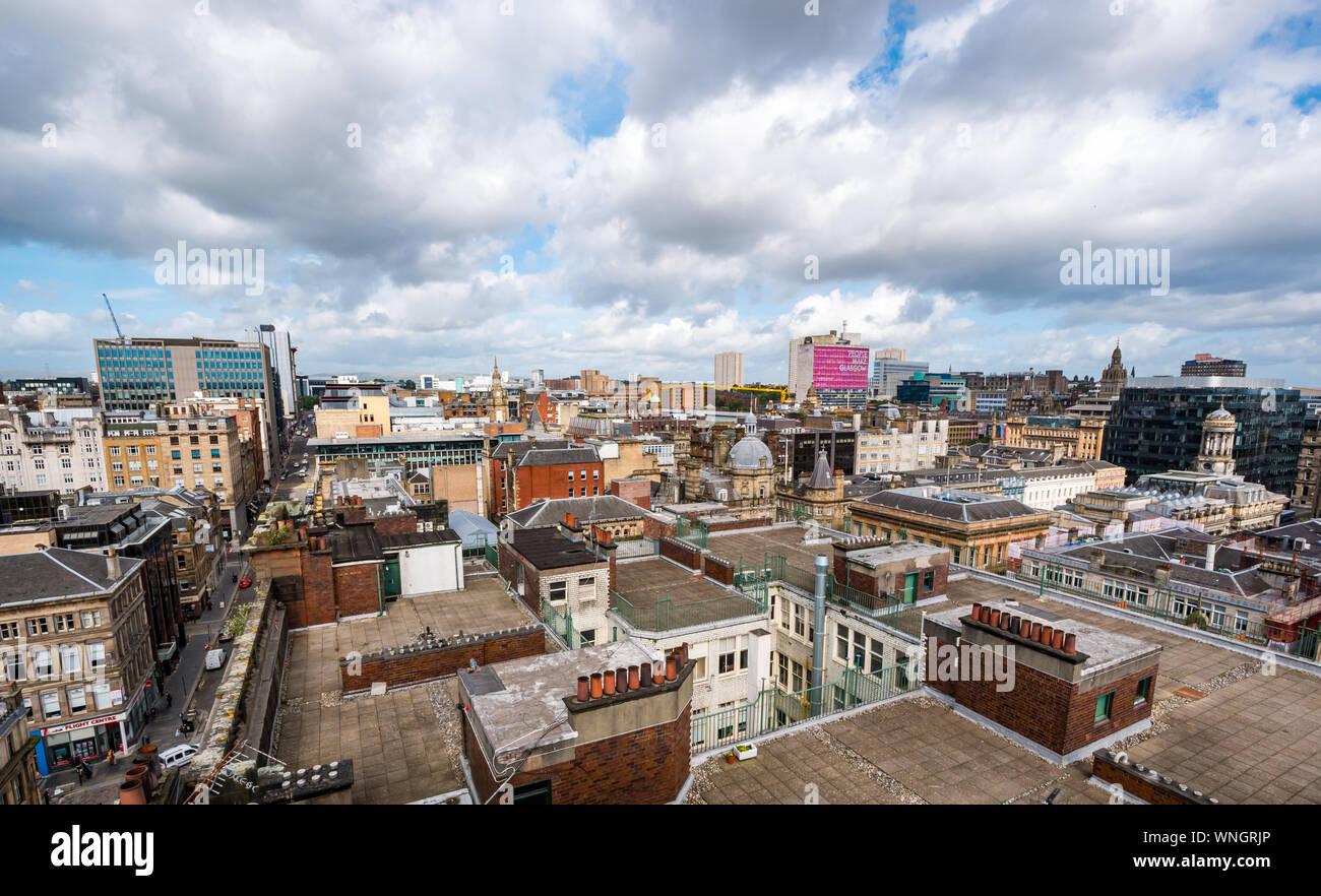 Vue sur la ville de la tour Phare, Mitchell Street, Glasgow, Scotland, UK Banque D'Images