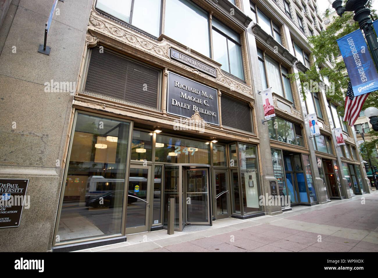 Richard M et Maggie C Daley bâtiment de l'université depaul anciennement le lytton department store Chicago Illinois USA Banque D'Images