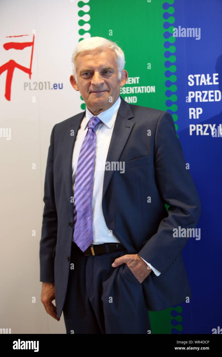 23.05.2011 Bruxelles, Belgique. Sur la photo: Jerzy Buzek Banque D'Images