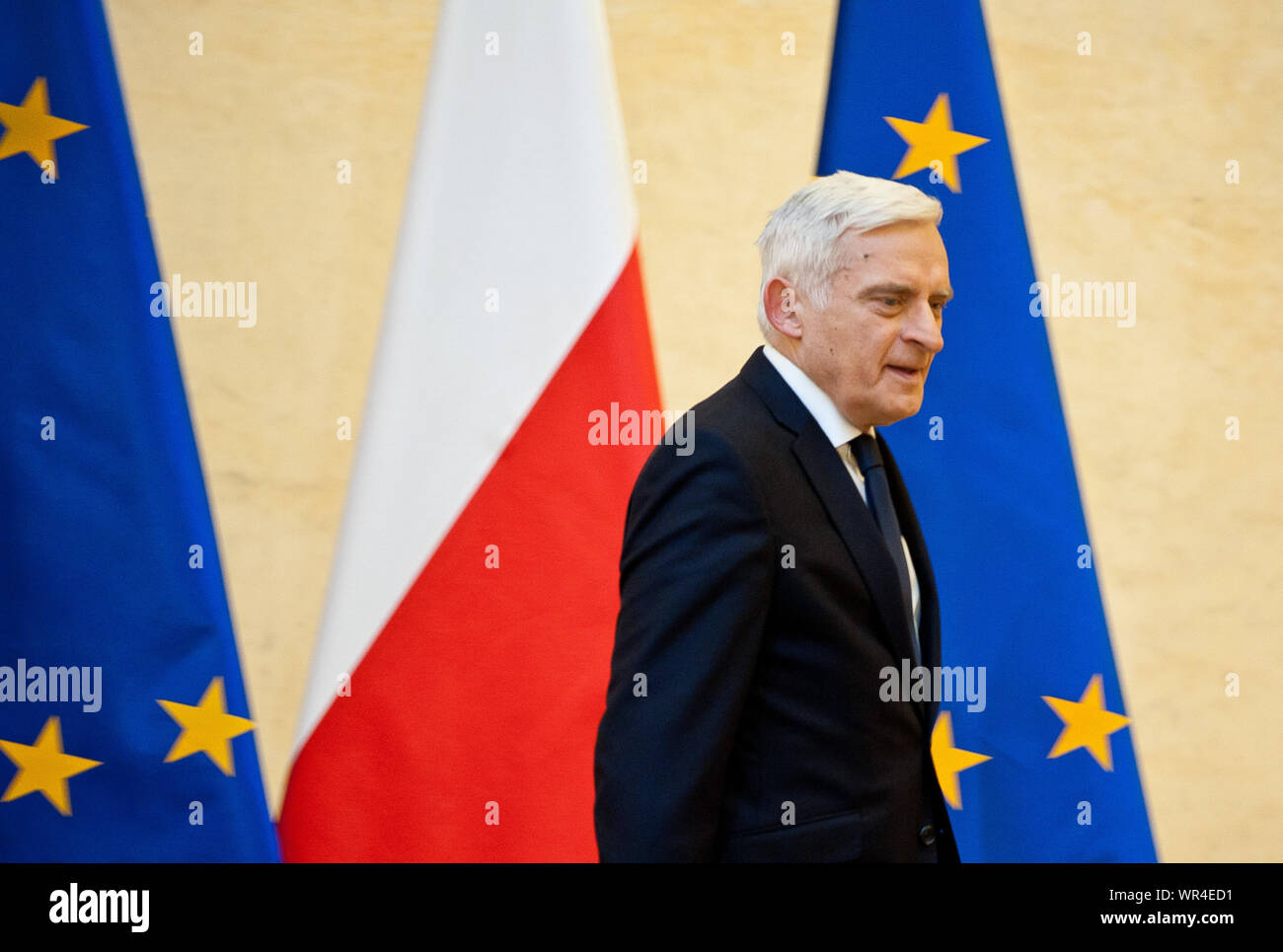 02. 03. 2014 Varsovie, Pologne. Sur la photo : Jerzy Buzek Banque D'Images