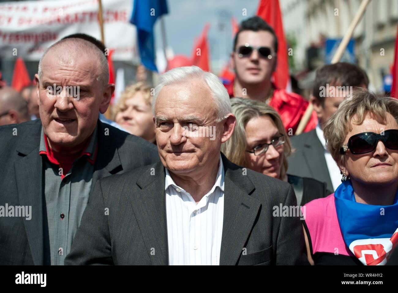 01. 05. 2014 Varsovie, Pologne. Sur la photo: Leszek Miller Banque D'Images