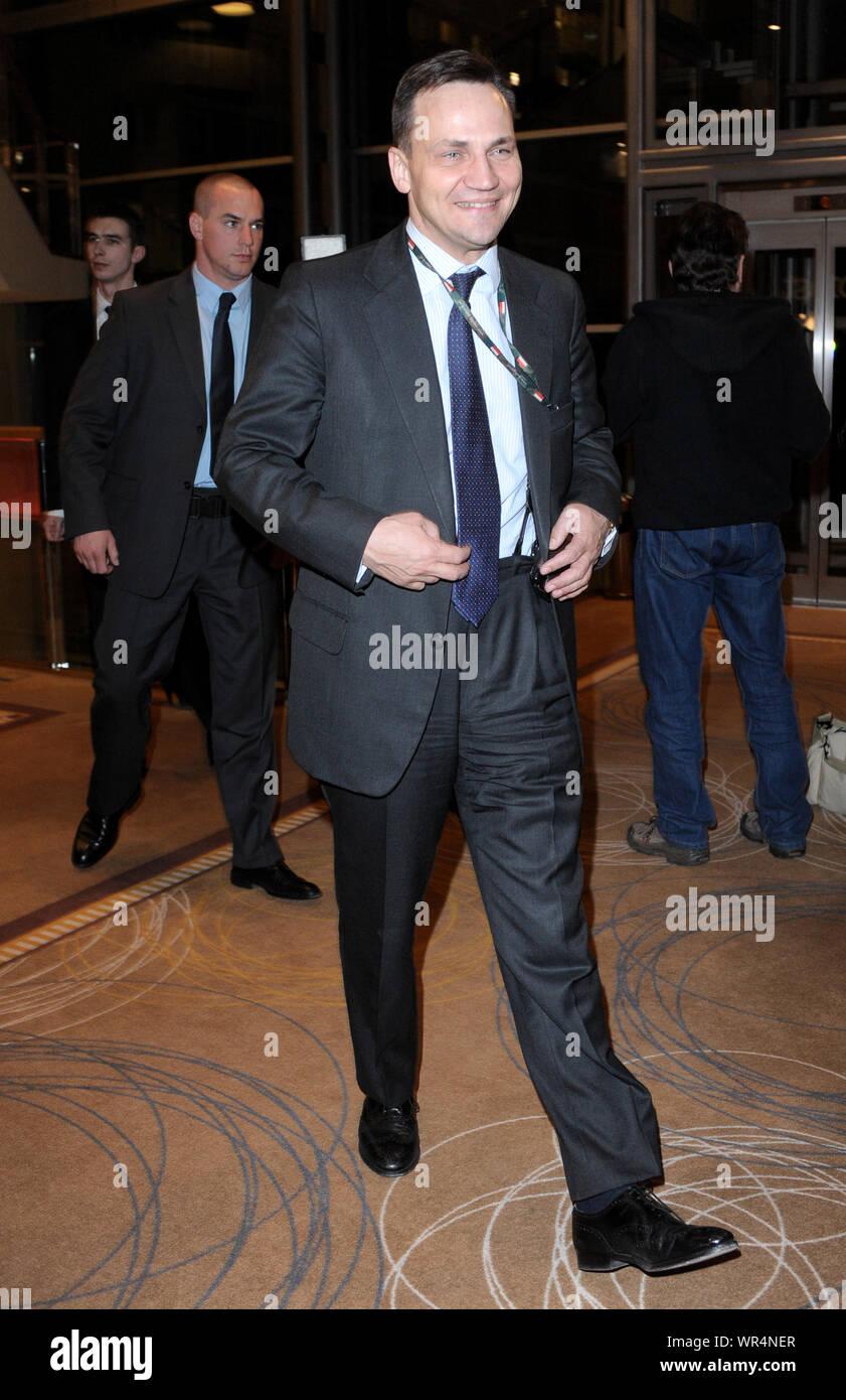 23.03.2011 Varsovie, Pologne. Sur la photo: Radoslaw Sikorski Banque D'Images