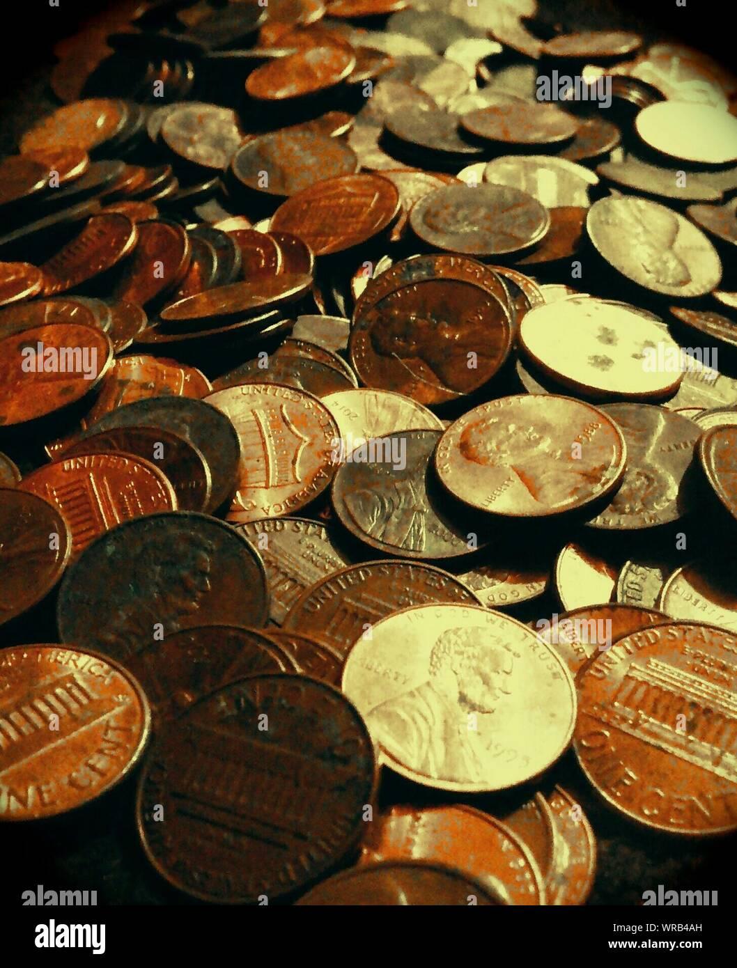 Full Frame Shot of Coins Banque D'Images