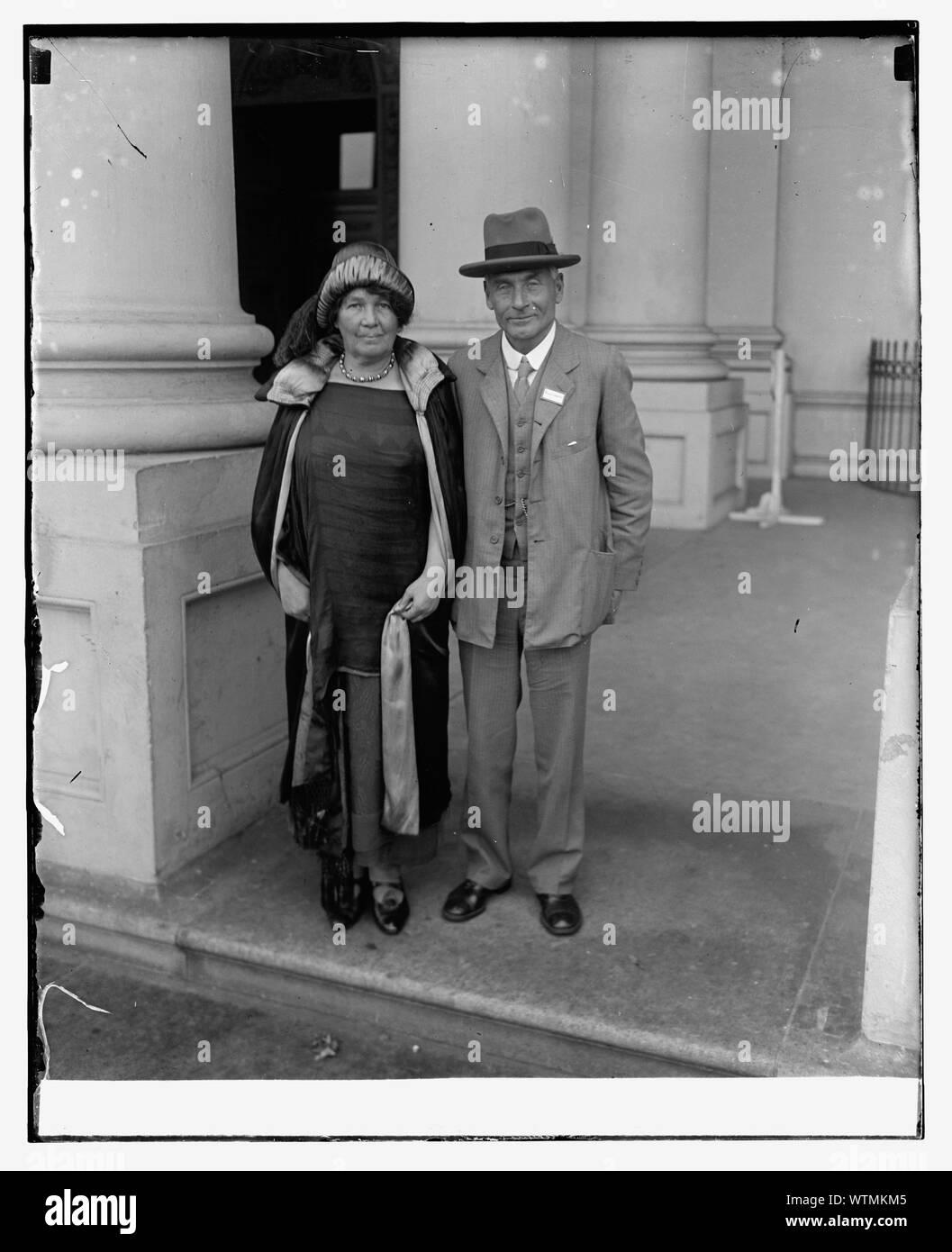 M. et Mme F.W. Pethick-Lawrence de Grande-Bretagne, 10/2/25 Banque D'Images