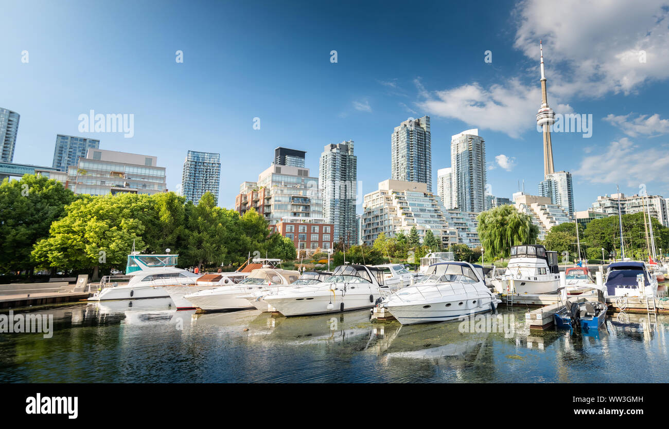 Les toits de la ville de Toronto, Canada Banque D'Images