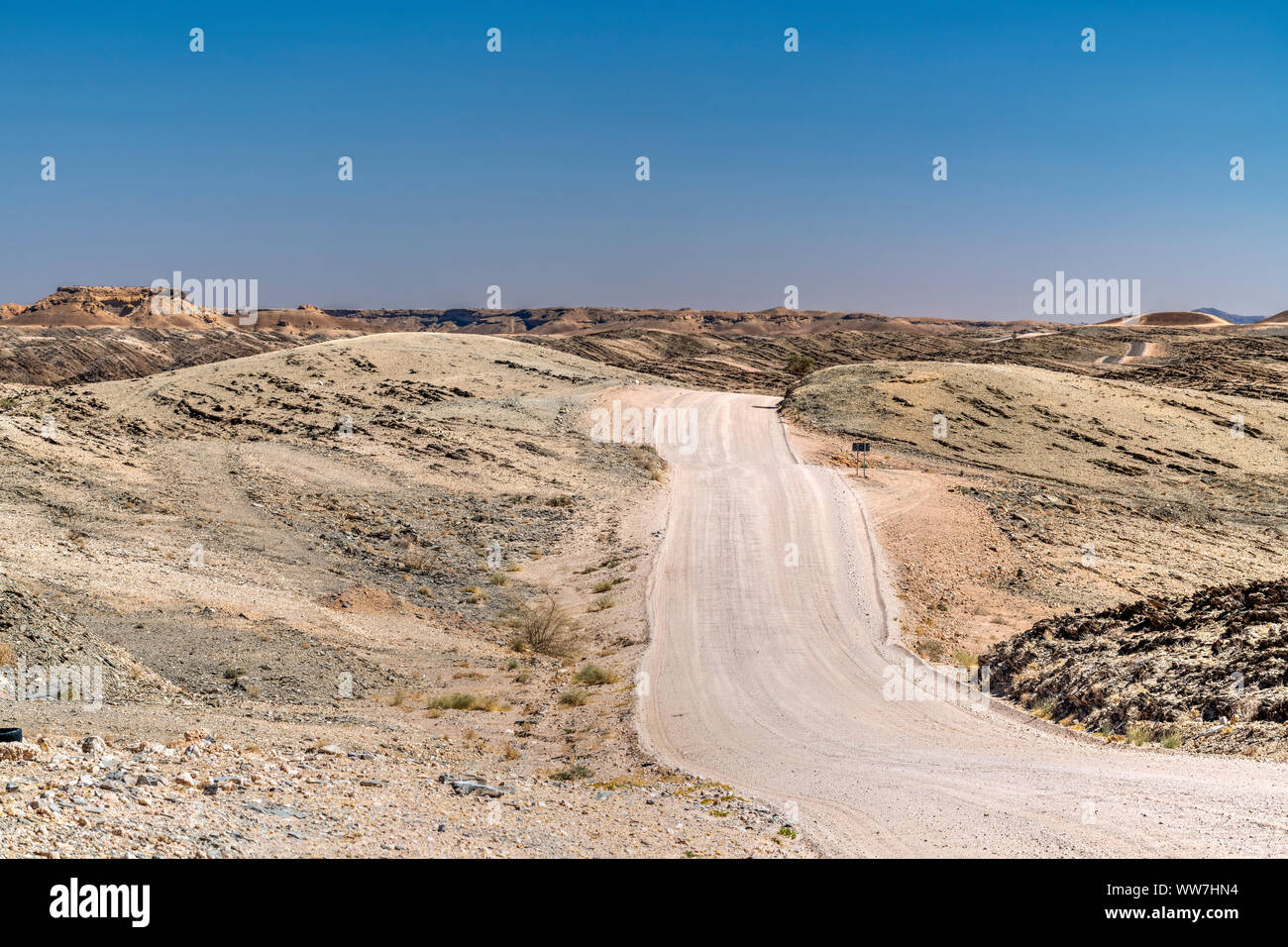 Route de terre, Col Kuiseb, Erongo, Namibie Banque D'Images