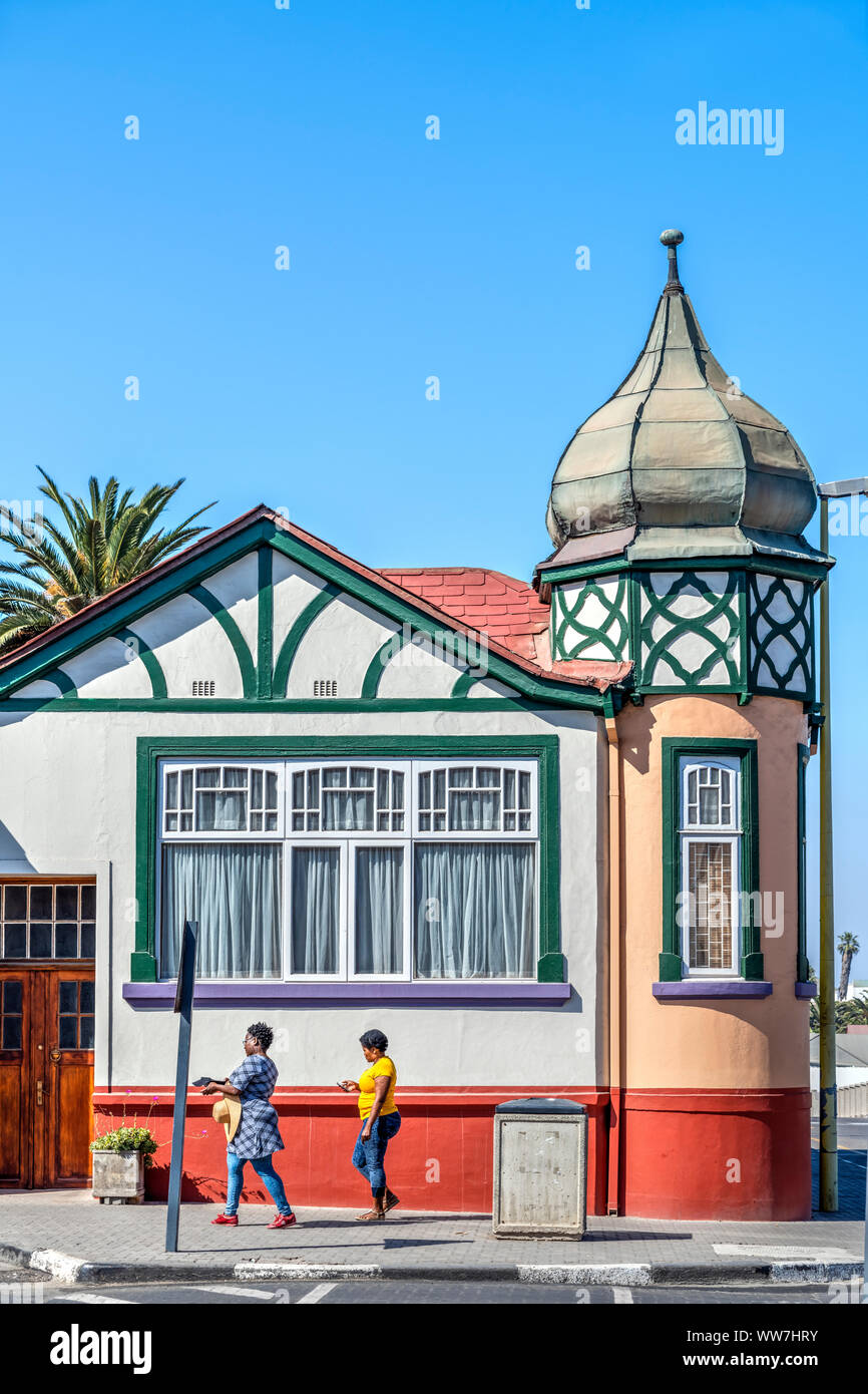 Bâtiment colonial allemand, Swakopmund, Erongo, Namibie Banque D'Images