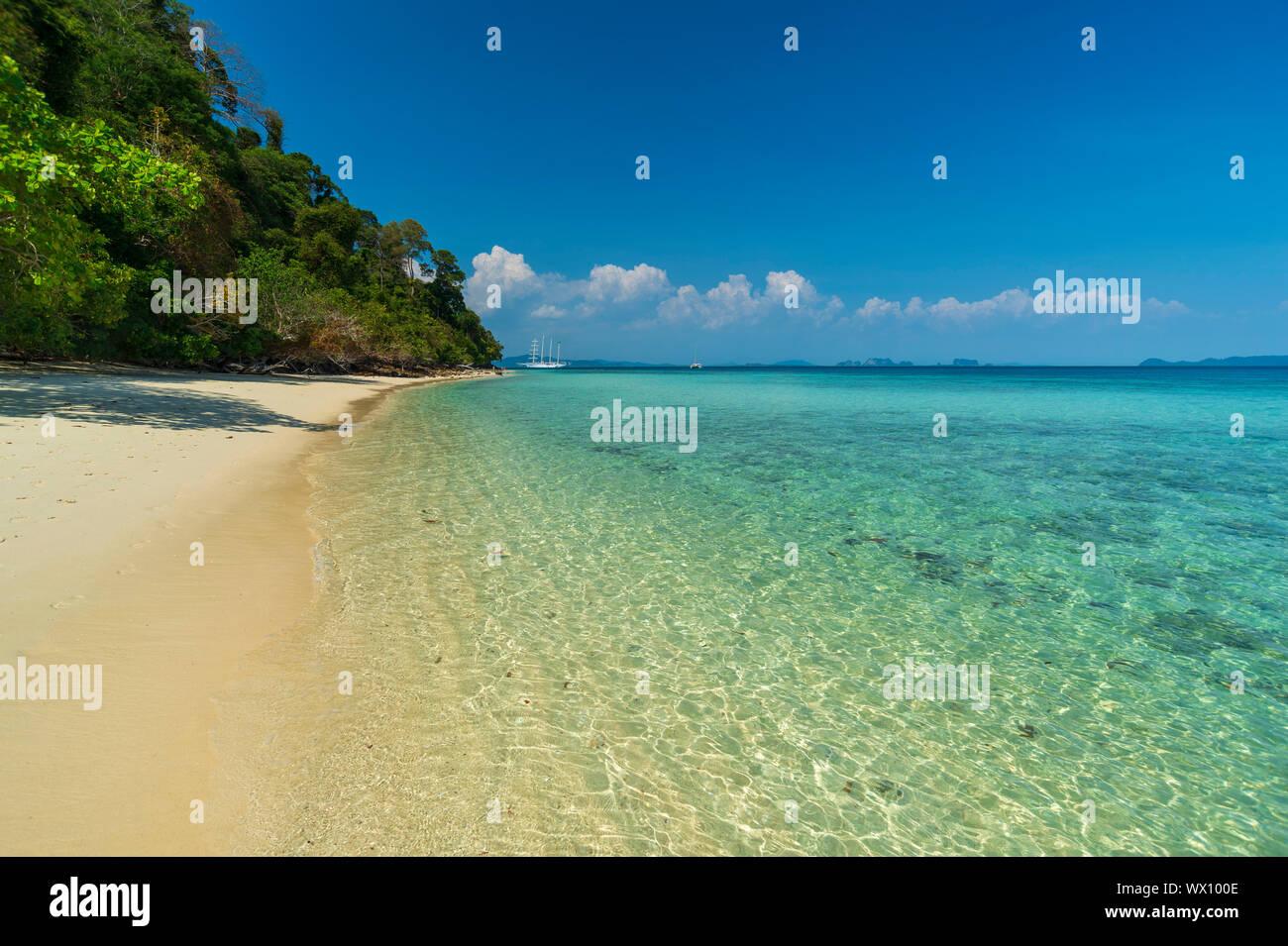 Ko Kradan tropical beach, Thaïlande, Asie du Sud, Asie Banque D'Images