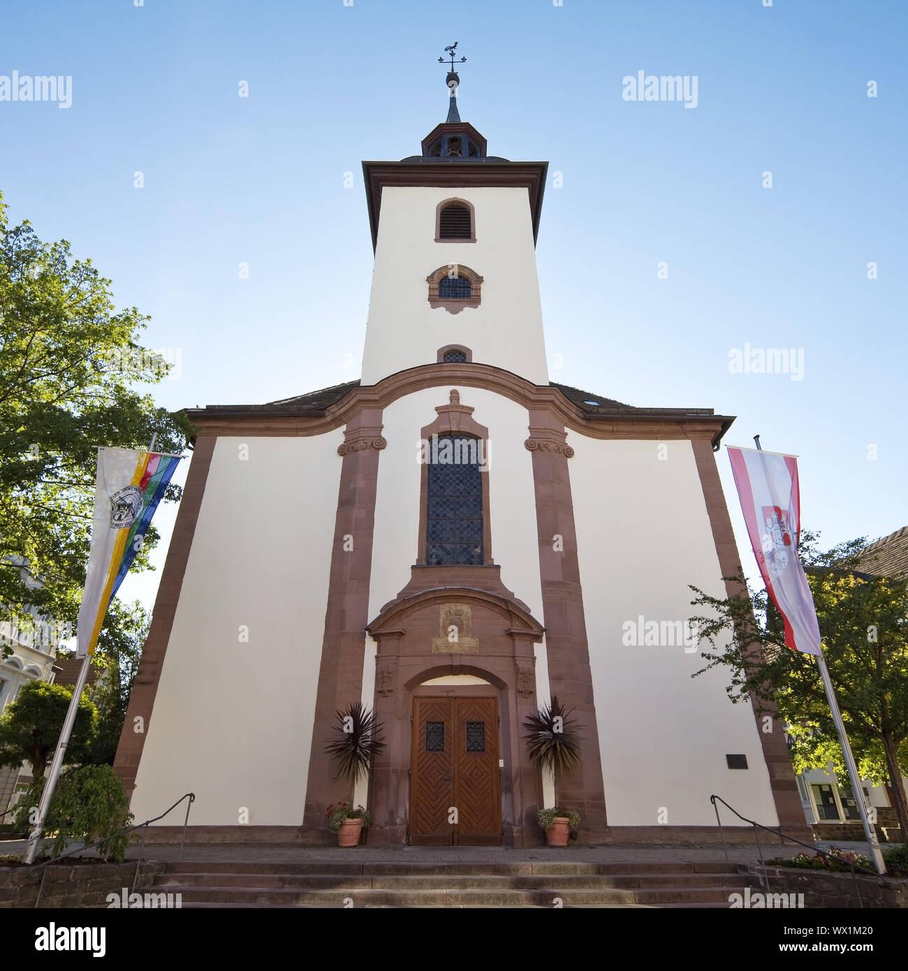L'église Saint Nikolai, vieille ville, Hoexter, Weserbergland, Nordrhein-Westfalen, Germany, Europe Banque D'Images