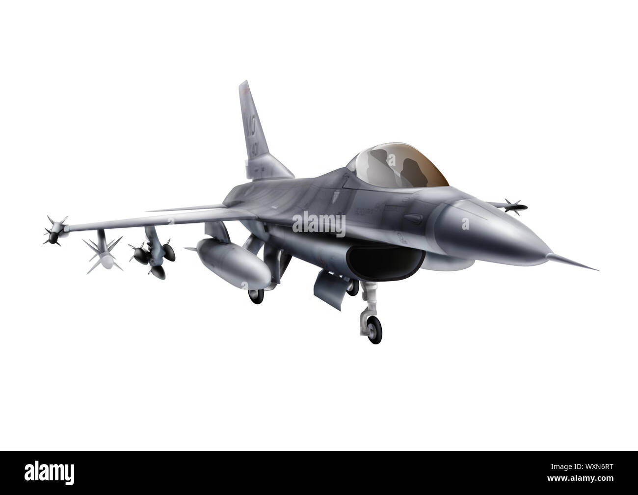Fighter General Dynamics F-16A Fighting Falcon Banque D'Images