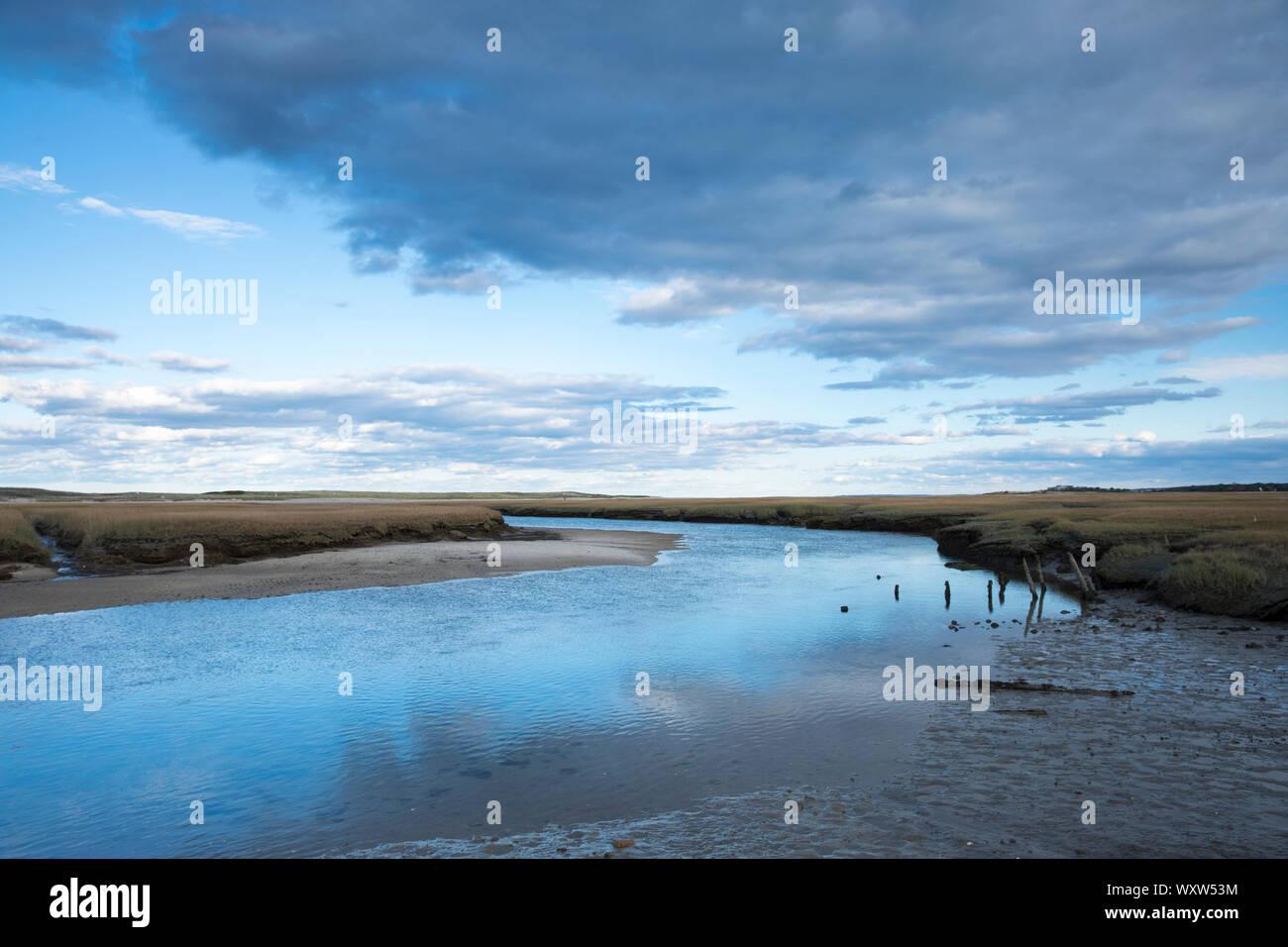 Ruisseau tranquille dans le Massachusetts, Etats-Unis Banque D'Images
