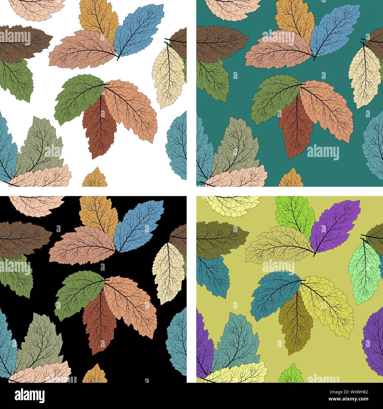 Caricature moderne libre de feuilles pour la décoration design. Carte de télévision. Arrière-plan de l'espace. Gros plan abstrait sur fond blanc. Modèle vectoriel continu Illustration de Vecteur