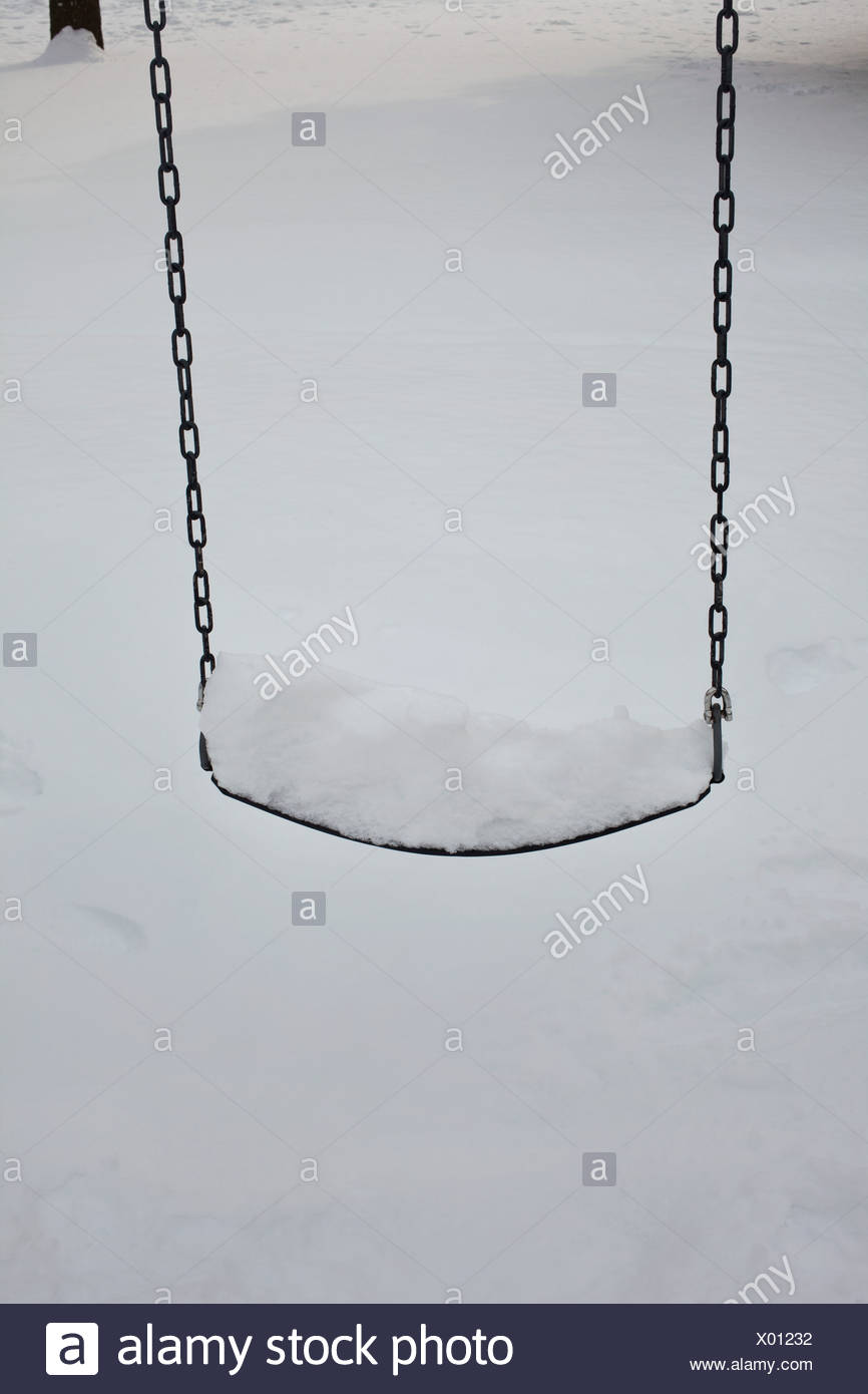 Swing couvertes de neige Photo Stock