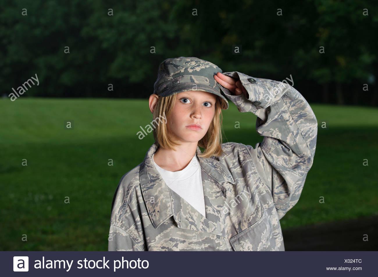 Veste militaire petite fille