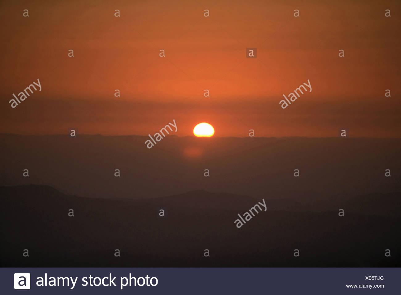 Le soleil levant Photo Stock