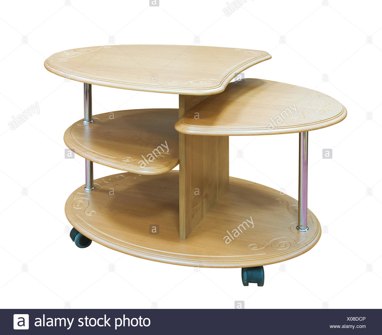 Table en bois ellipse Photo Stock