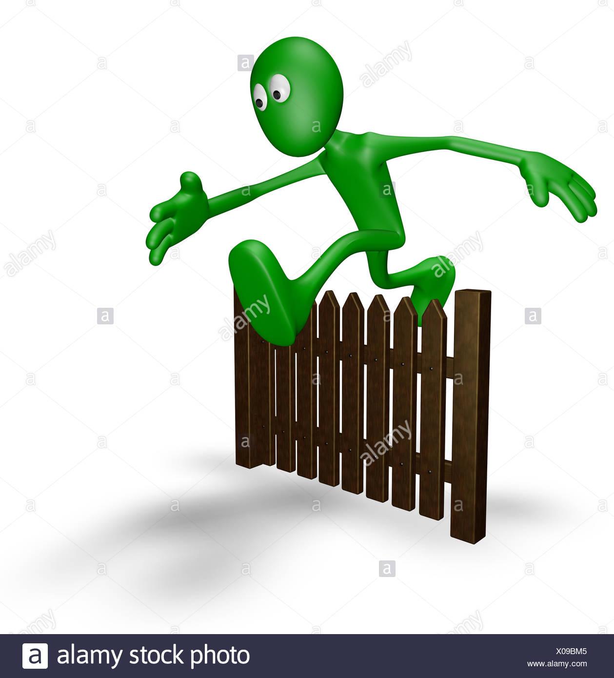Bois, personne, d\'une clôture, en clôture, l\'escrime, toile, jardin ...