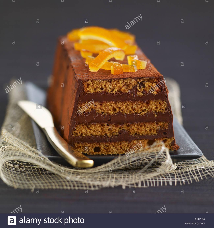 Gingerbread,chocolat et orange confits cake journal Banque D'Images