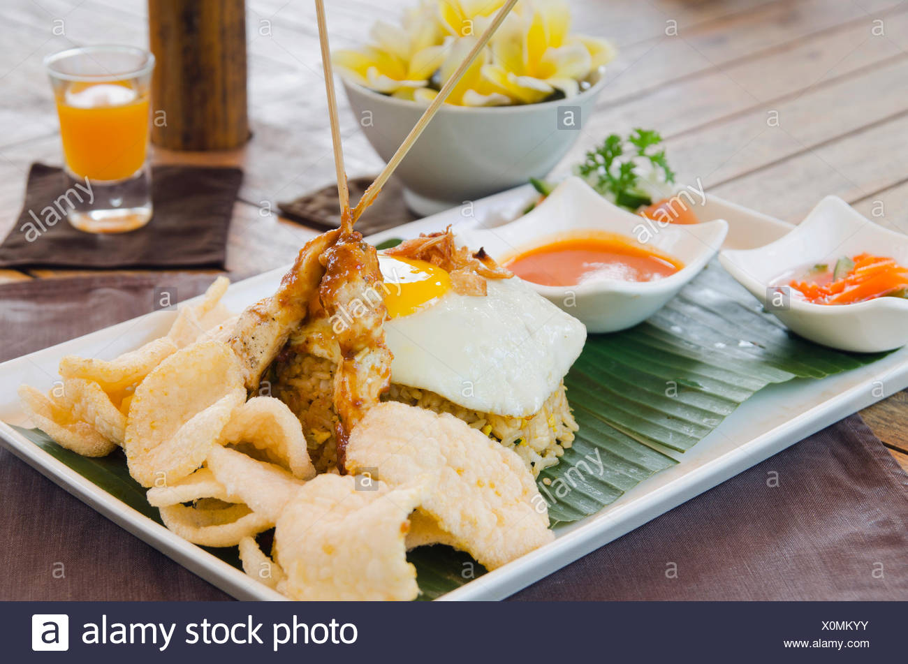 Cuisine Indonésienne | Nasi Goreng Riz Frit Indonesien Une Cuisine Indonesienne Dans Un