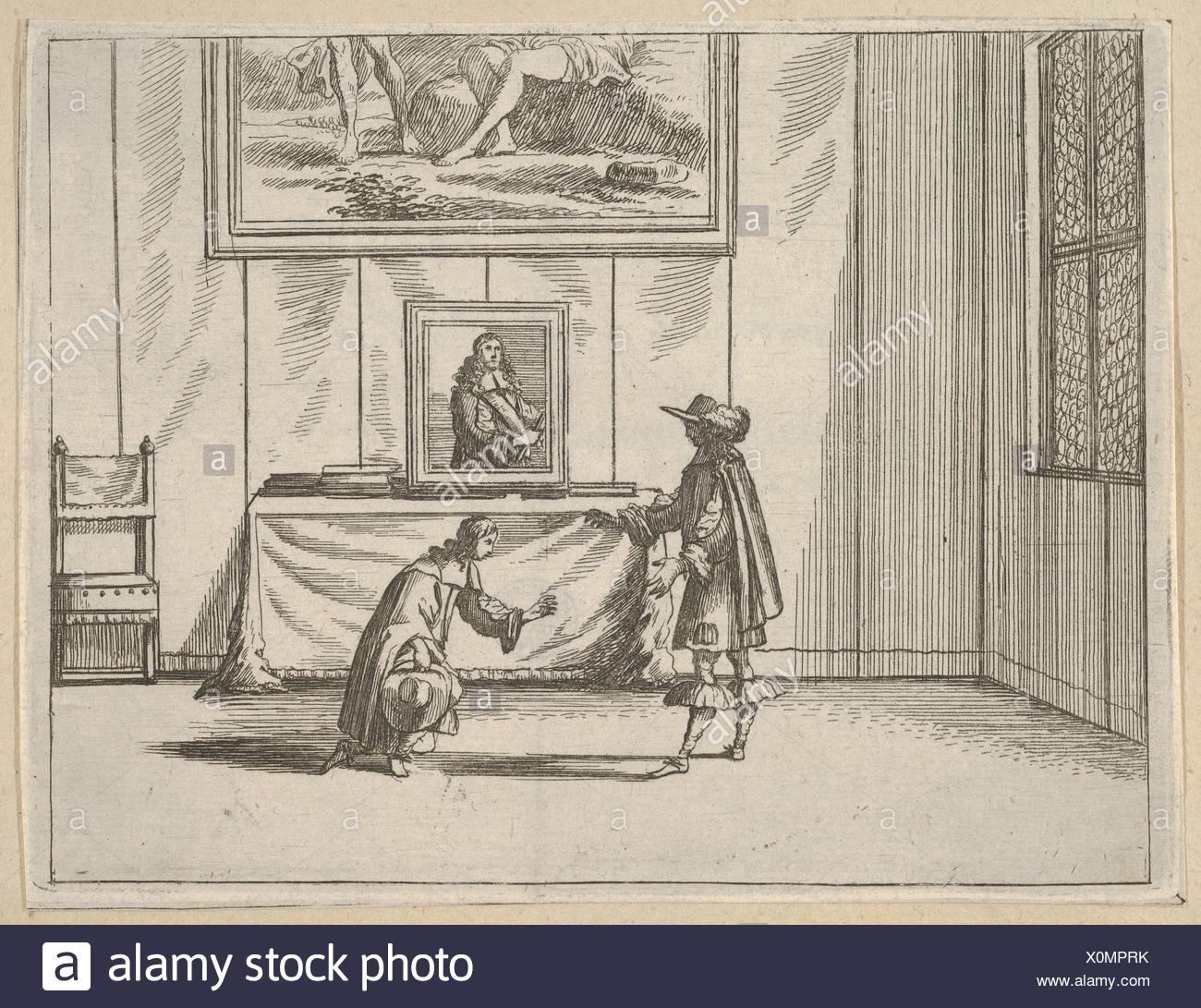 Francesco I d'Este est généreux en lui pardonnant les délinquants, de l'idea di un principe ed Eroe Cristiano dans Francesco I d'Este, di Modena e Reggio Photo Stock