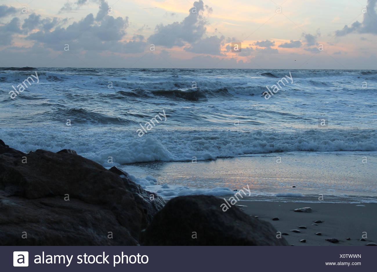 horizon bleu Photo Stock