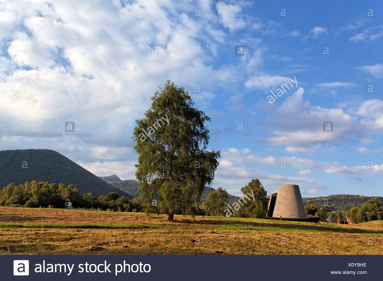 Vulcania, volcan thème et parc de loisirs, Saint Ours, Parc Naturel Régional des Volcans d'Auvergne, les volcans d'Auvergne Parc Naturel Photo Stock