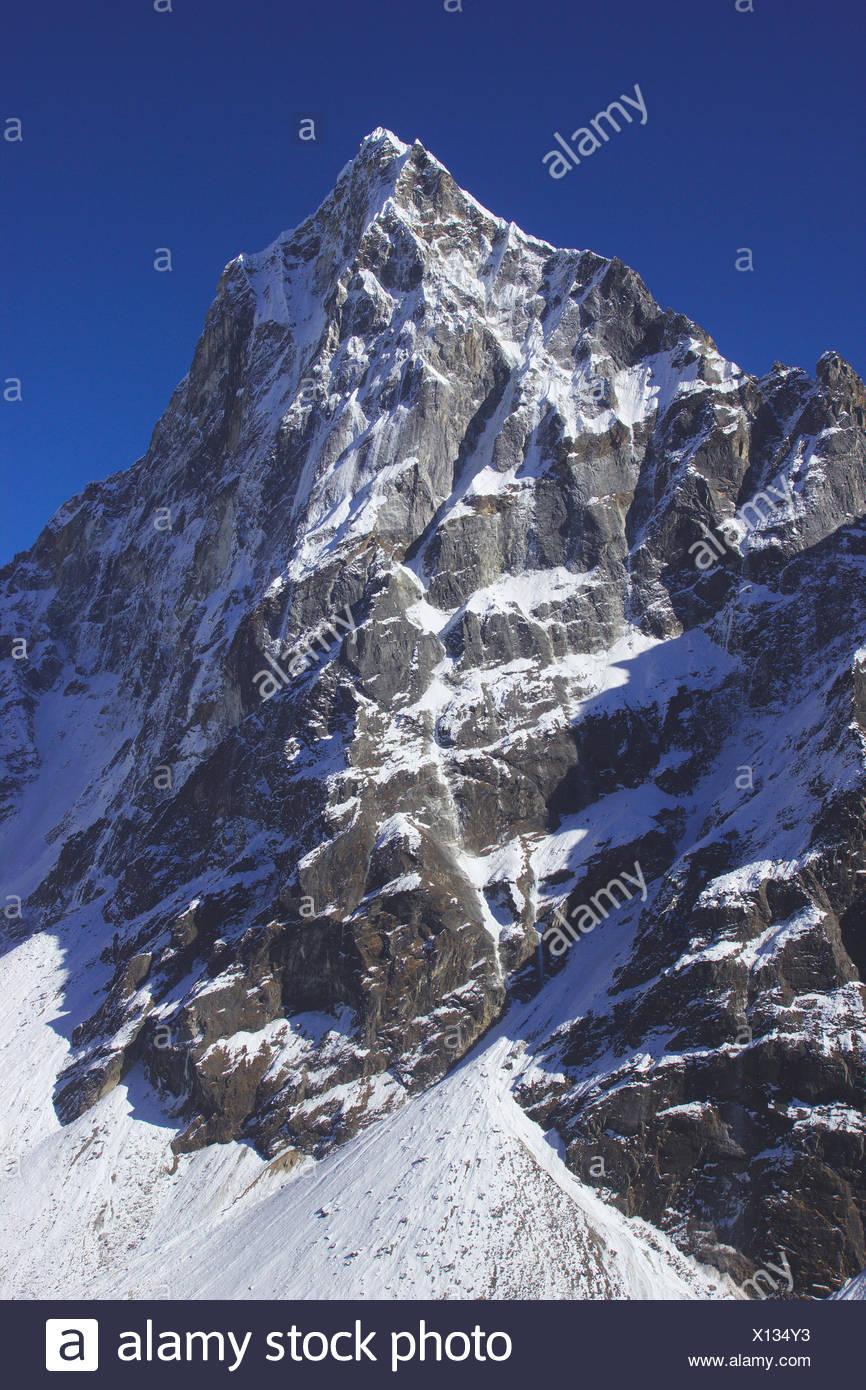 Le Cholatse, Népal, Himalaya, Khumbu Himal Photo Stock