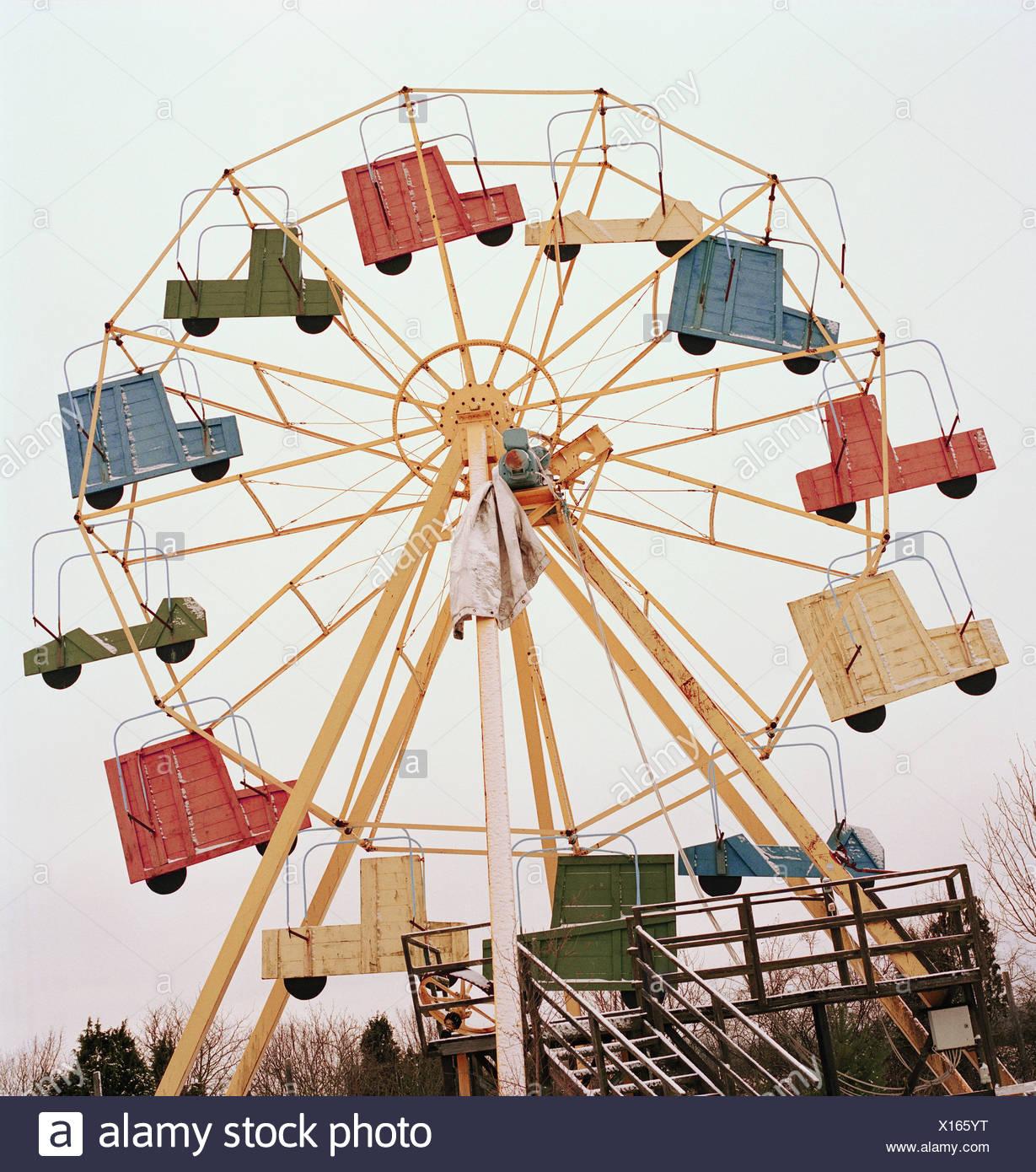 Une grande roue rétro Photo Stock