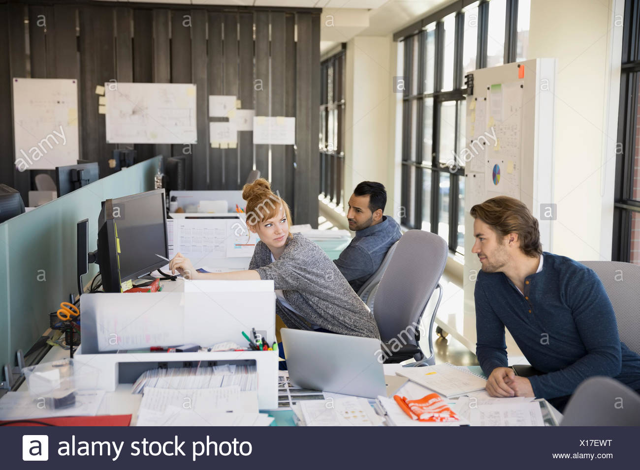 Business people working in office Photo Stock