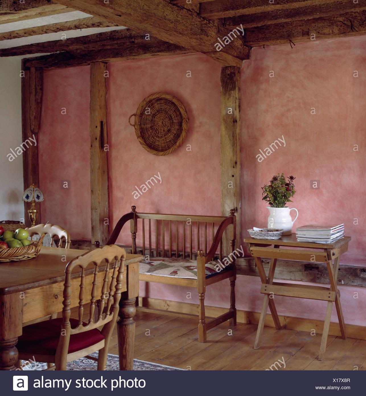 Peinture À L Éponge Sur Mur peinture des murs en terre cuite effet épongé en cottage