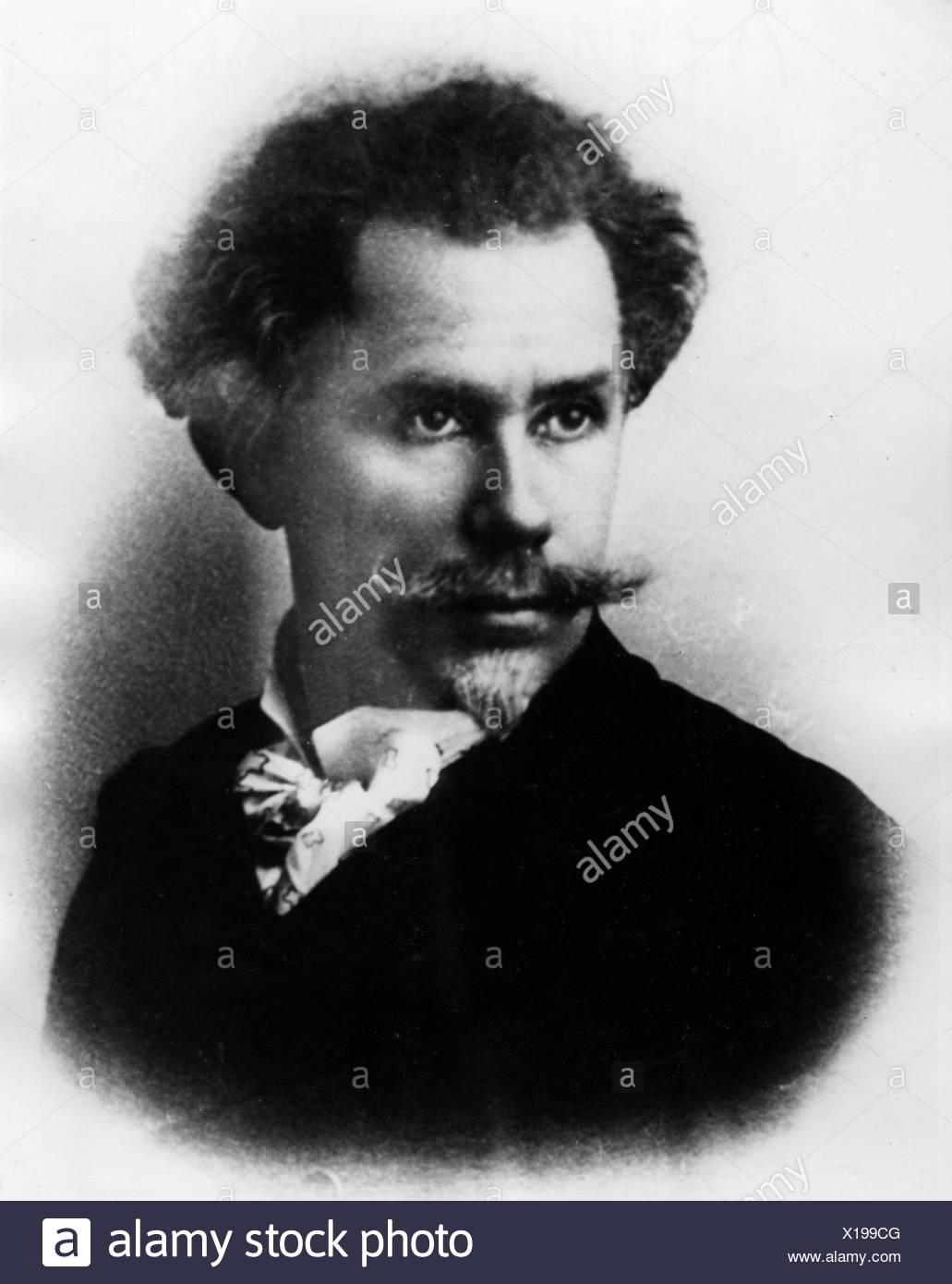 Delavrancea, Barbu Stefanescu, 1858 - 1918, l'auteur roumain / écrivain, portrait, , Additional-Rights-Jeux-NA Photo Stock
