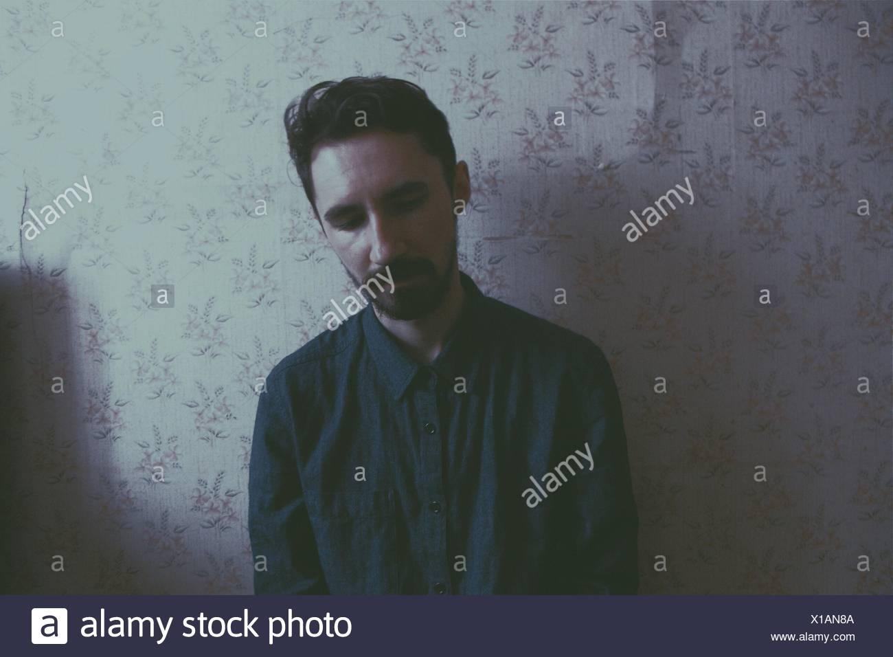 Portrait de jeune homme Photo Stock