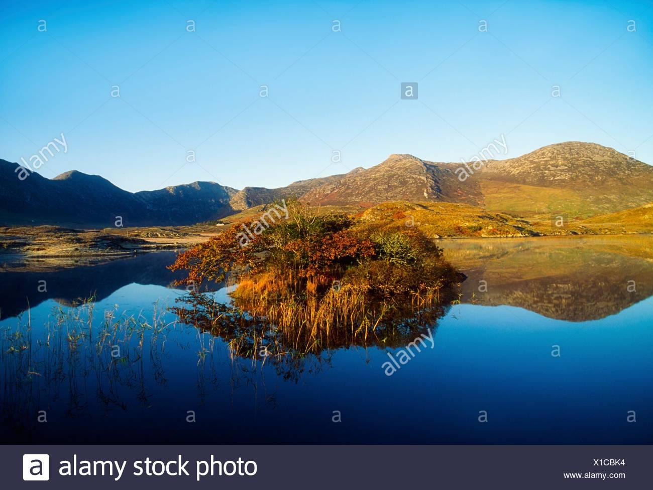 Le Connemara, Co Galway, Irlande, Twelve Bens Photo Stock