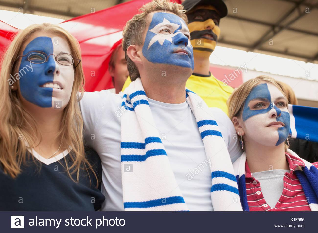Les supporters de football Photo Stock