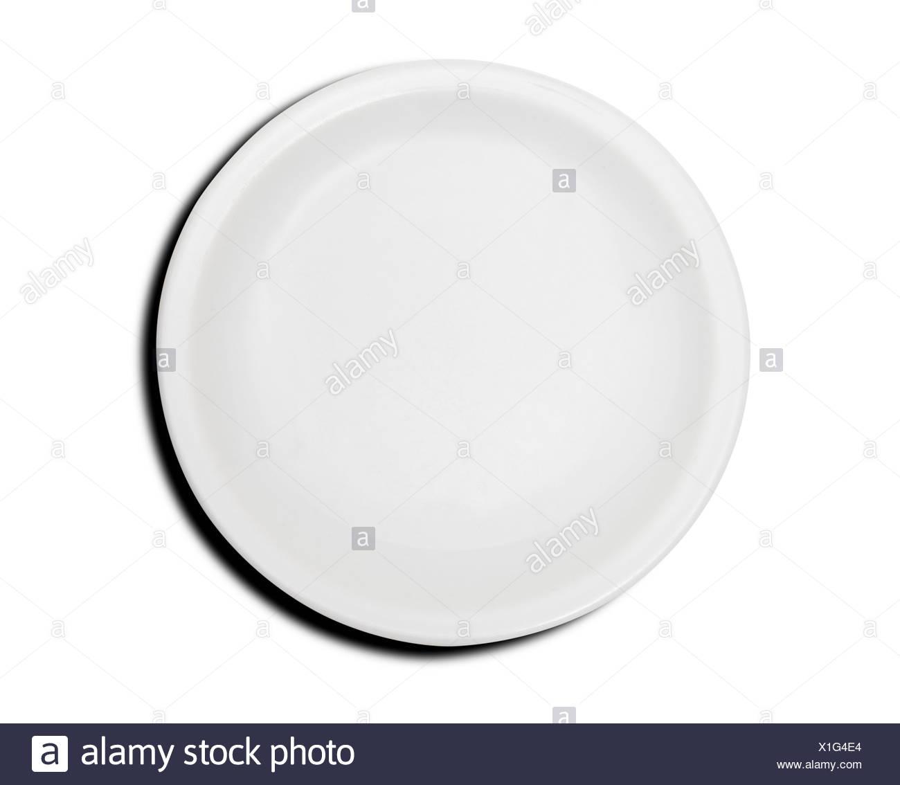 Assiette vide Photo Stock