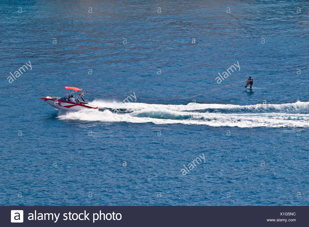 Asseoir hydroglisseur sport ski Photo Stock