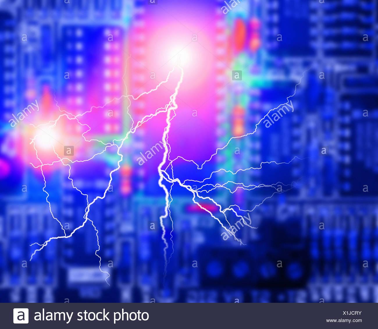CONCEPT ÉLECTRONIQUE: Circuit Board Photo Stock