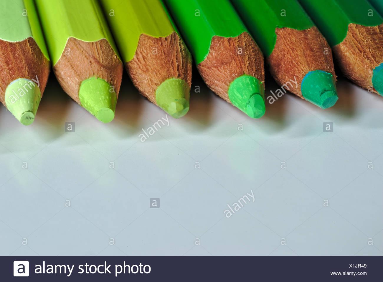 Plan de crayon de couleur sur le tableau Photo Stock