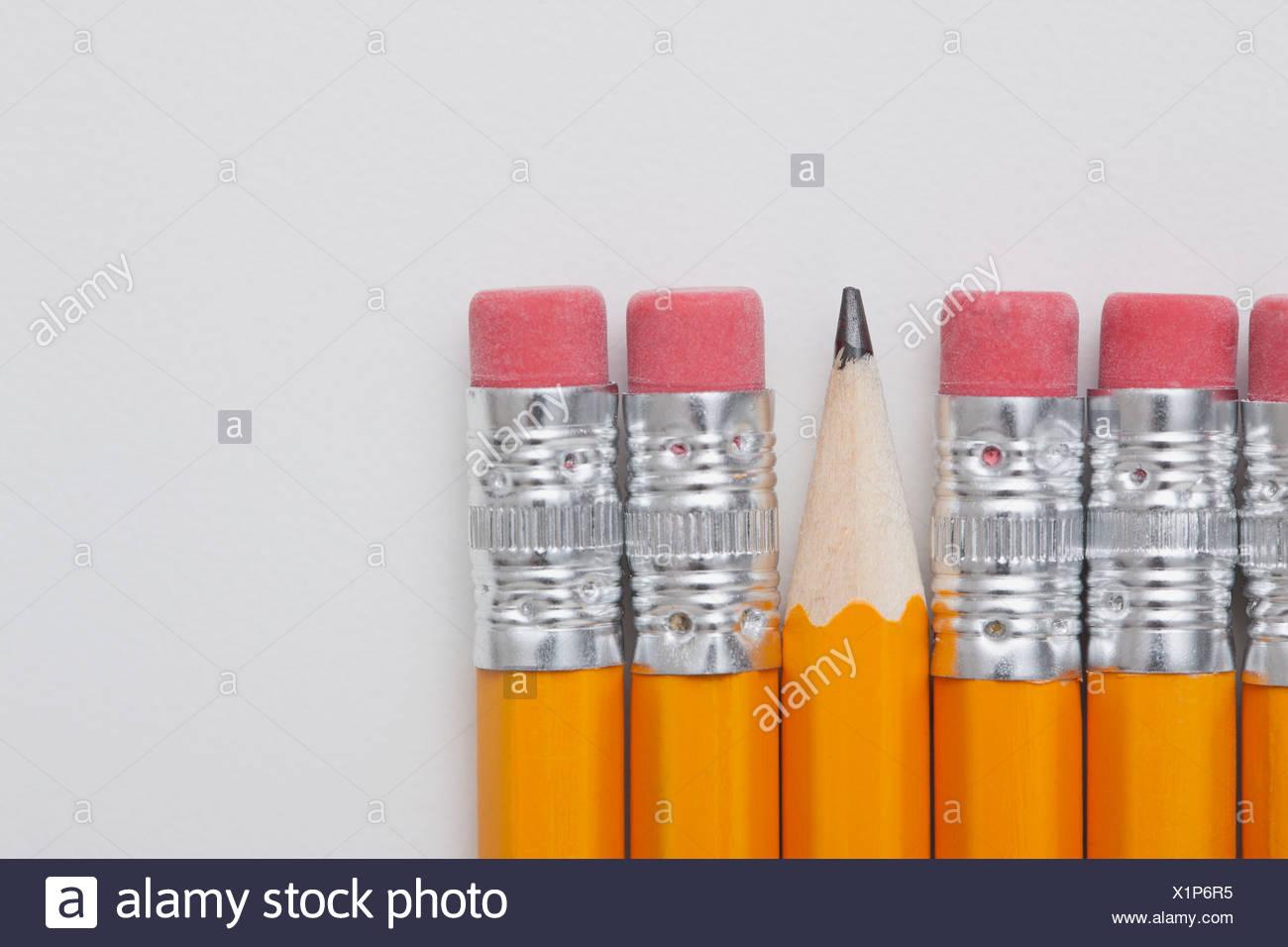 Studio shot of pencils Photo Stock